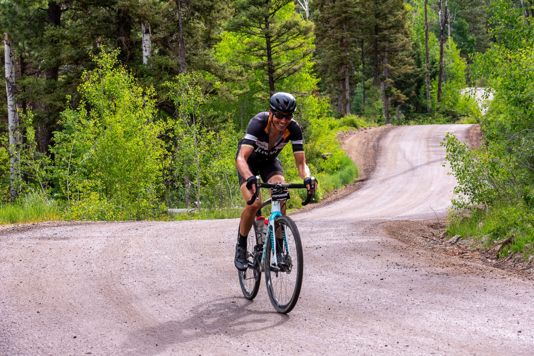 LeRoy Popowski (Juwi Solar) on the early climb towards Betenson Flat. Photo: Steven L. Sheffield.