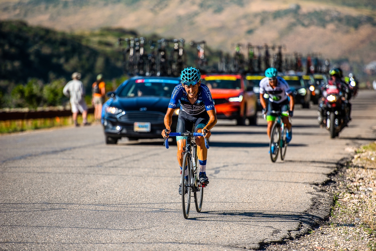 Fan Favorite Bernat Font Mas (303 Project) Stage 5, 2019 Tour of Utah. Photo by Steven L. Sheffield